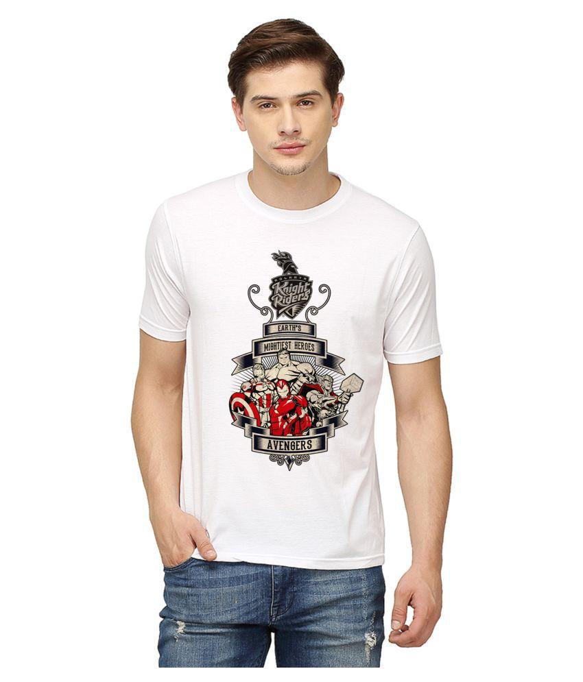 Campus Sutra White Round T-Shirt
