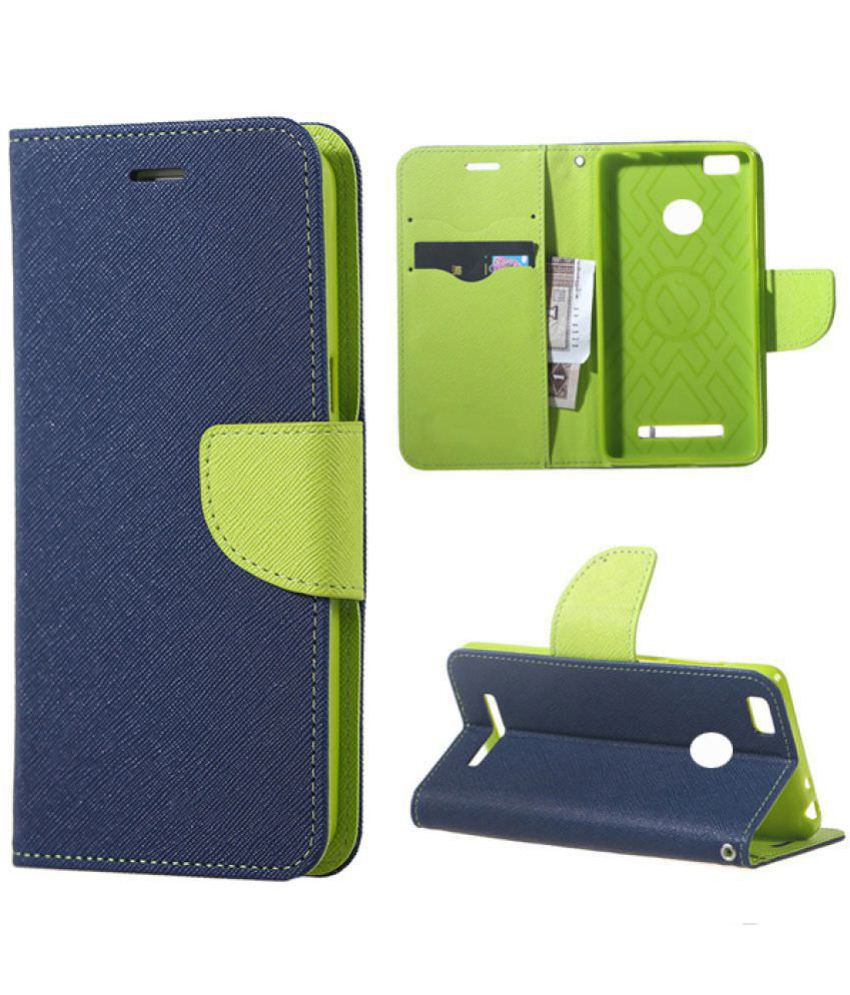 Redmi 4 Flip Cover by Bright traders - Blue