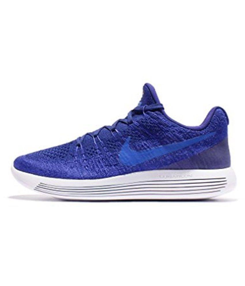 1f89e18bd22b Nike LunarEpic Low Flyknit 2 Blue Running Shoes - Buy Nike LunarEpic ...