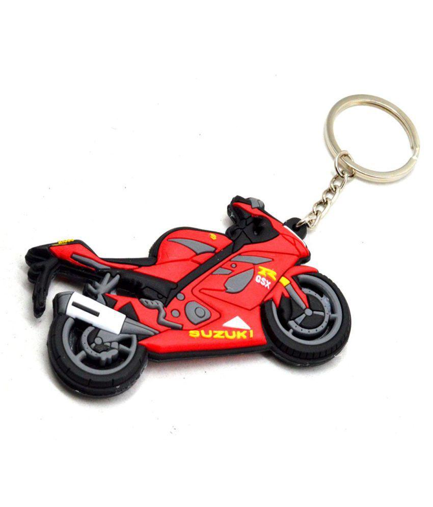 Suzuki GSX R1000 Bike Logo double sided High Quality Silicone Red/Black Key Chain