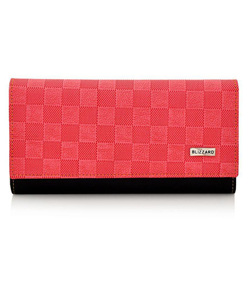 Blizzard Red Faux Leather Handheld