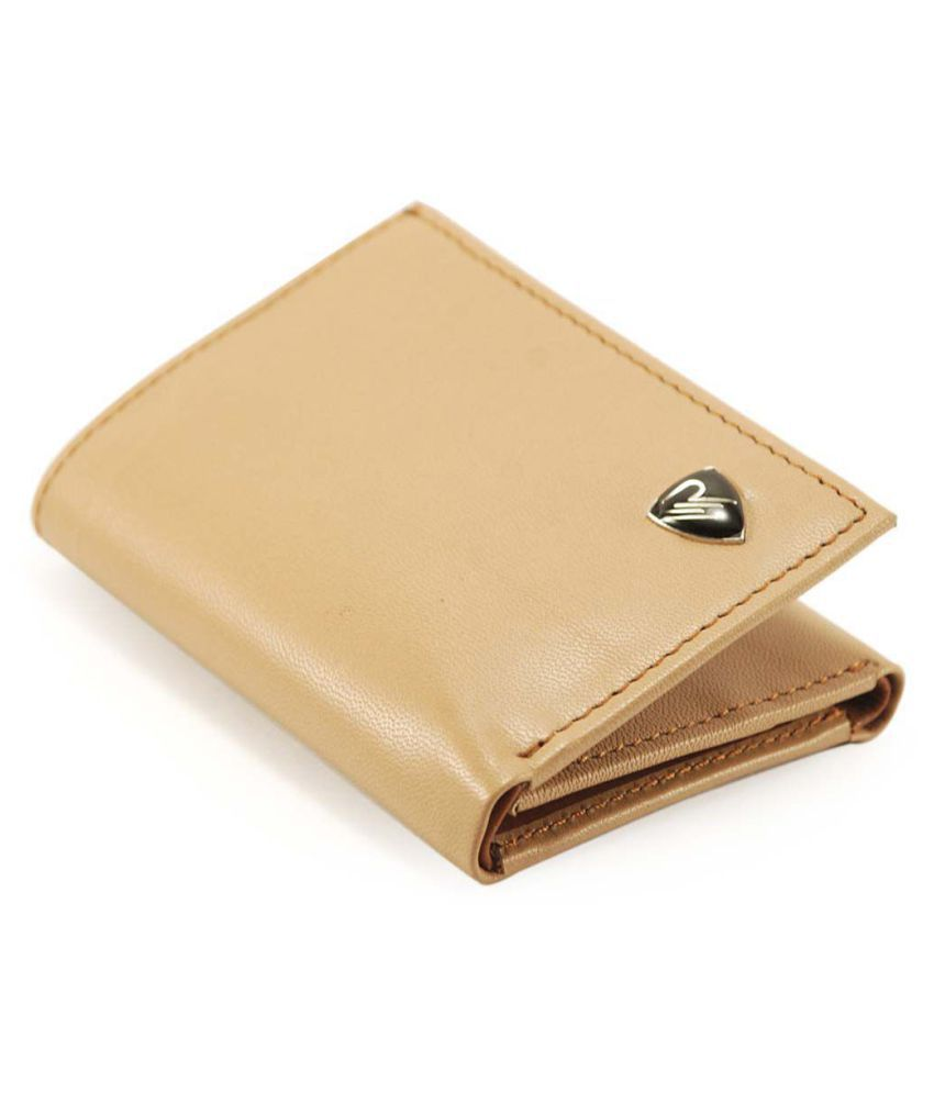 The Rhino Leather Tan Formal Traveller Wallet