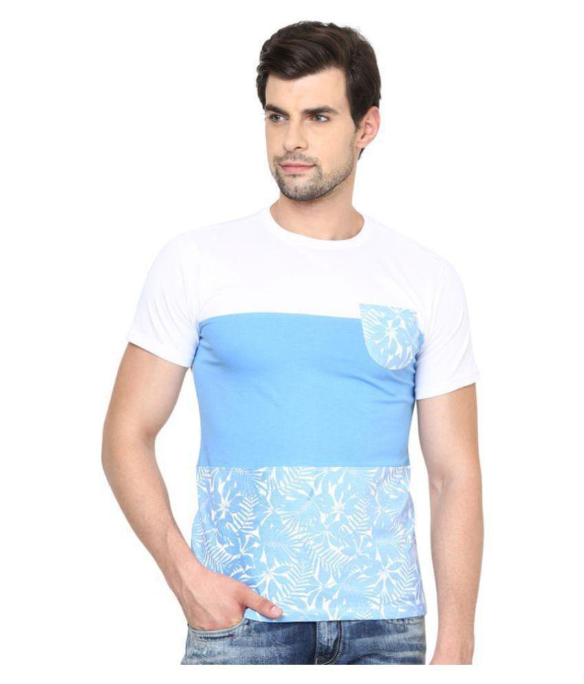 ishwa Turquoise Round T-Shirt