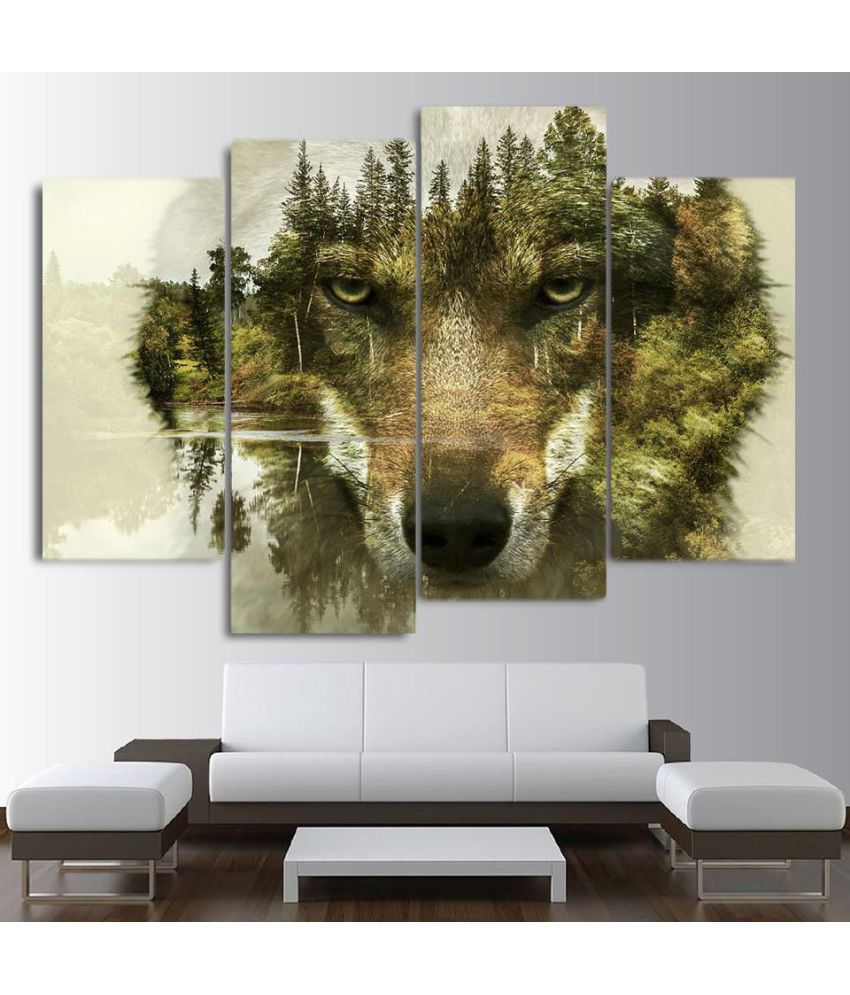 Wolf Digital Canvas Printing without Frame AHDCP-12