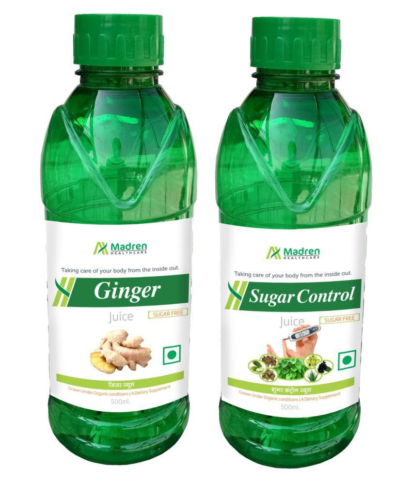 Madren Healthcare Ginger & Sugar Care Juice Health Drink Liquid 500 ml un flavoured