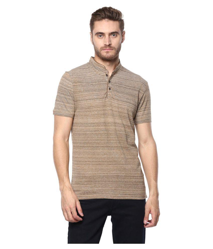 Octave Khaki High Neck T-Shirt