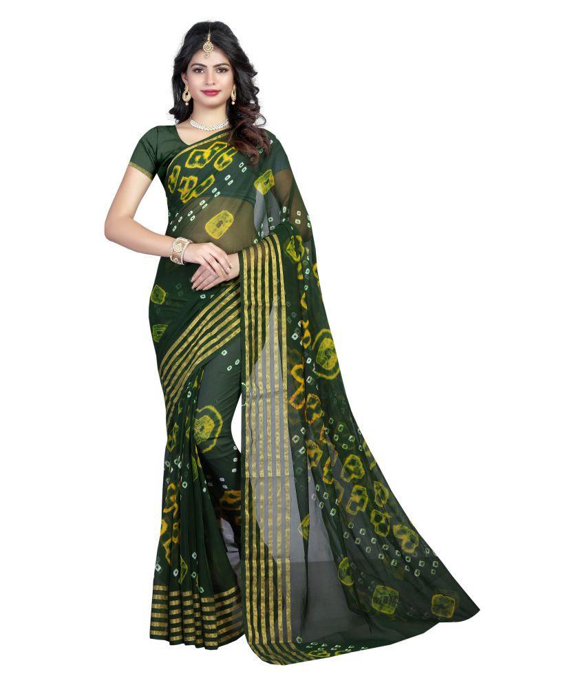 Sondarya Bandhani Multicoloured Art Silk Saree