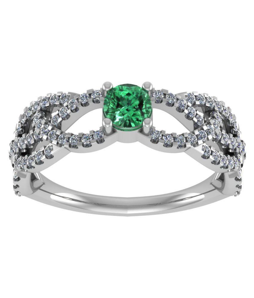 Shreeji Jewellers 92.5 Silver Cubic zirconia Ring