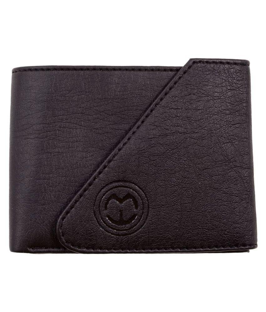 MT WALLET Leather Black Casual Regular Wallet