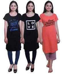 TRAZO Cotton Multi Color T-Shirts
