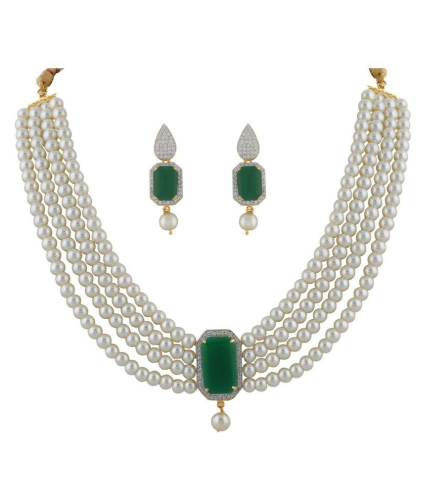 ClassiqueDesigner Shell Shape Pearl Set