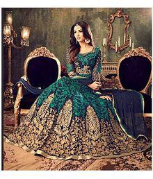 SareeShop Designer SareeS Green Georgette Dress Material