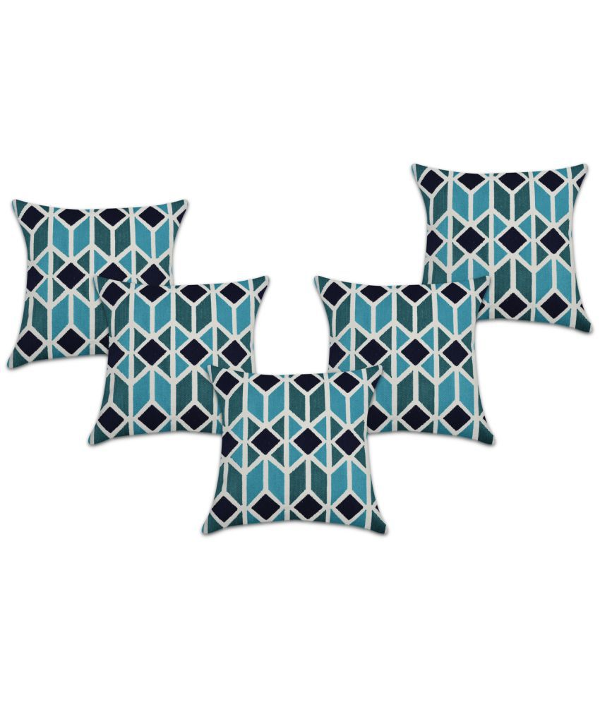 Home And We Set of 5 Cotton Cushion Covers 45X45 cm (18X18)