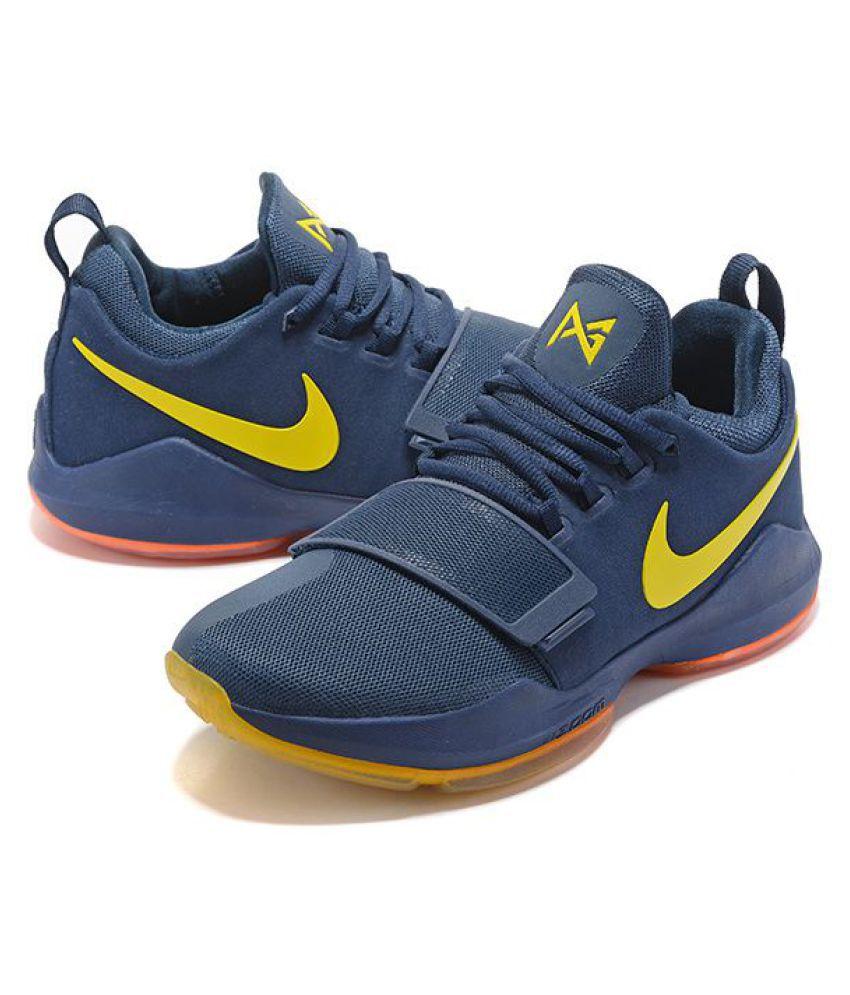 186ef5883849 Nike Zoom PG 1 Yellow Dark Blue Basketball Shoes - Buy Nike Zoom PG ...