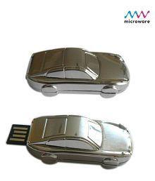 Microware Car Shape 16GB USB 2.0 Fancy Pendrive Pack of 1
