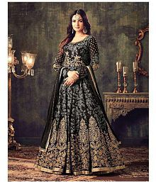 Zofey Grey Georgette Anarkali Semi-Stitched Suit