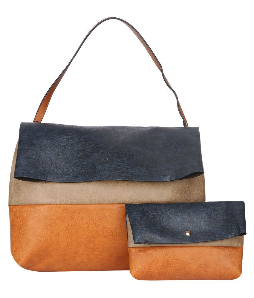 Fiona Trends Tan P.U. Shoulder bag