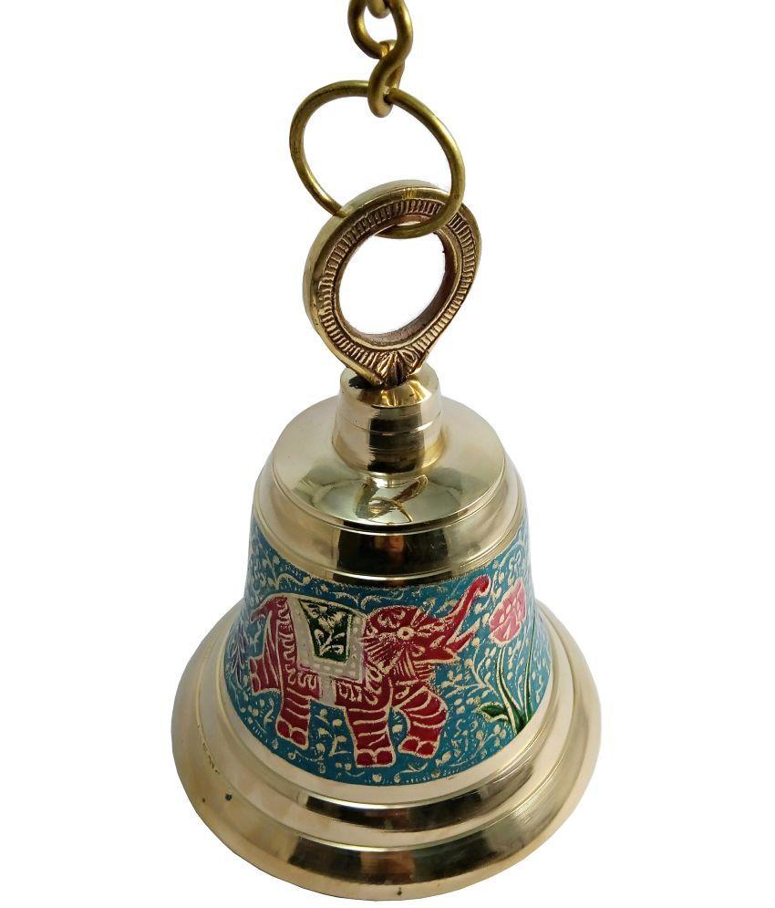 MOZO HUB Brass Red Hanging Bell 23 CM