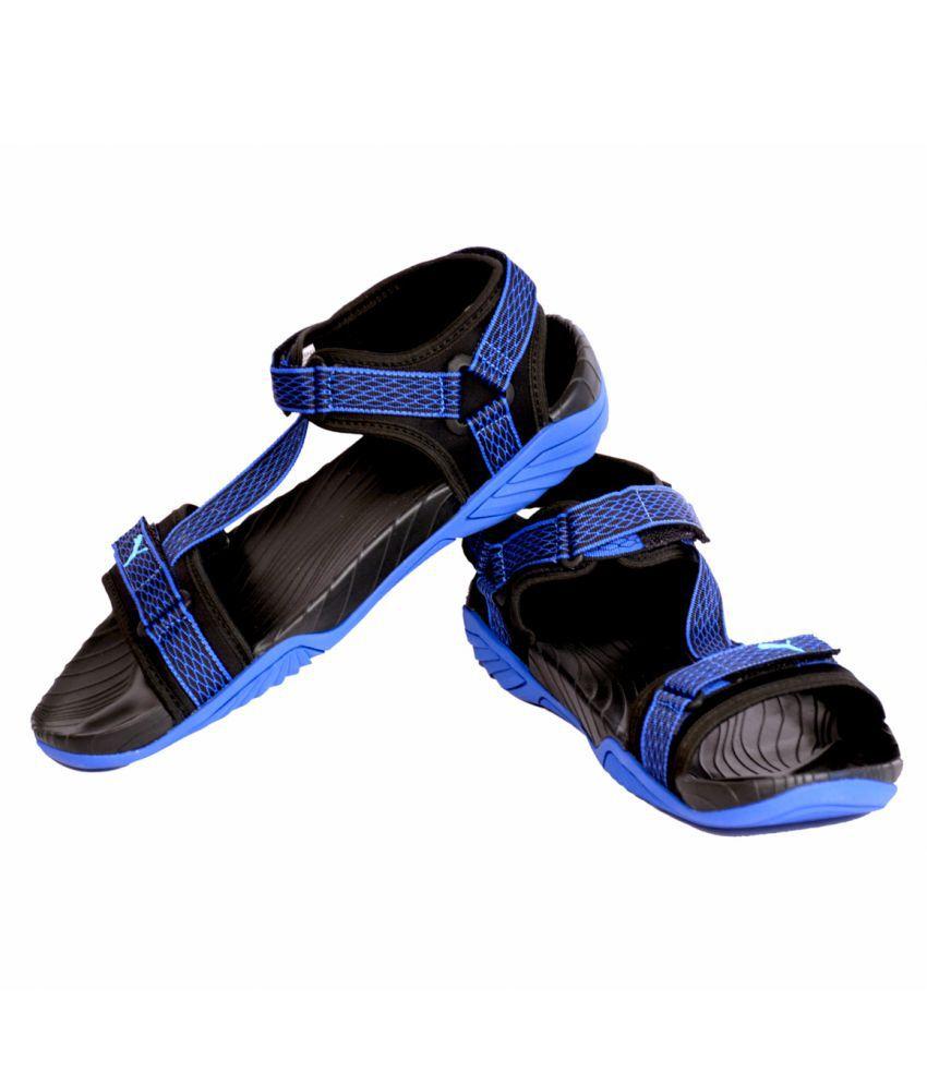 04afee742c1b Puma Black-Nrgy Turquoise-Lapis Blue Floater Sandals - Buy Puma ...