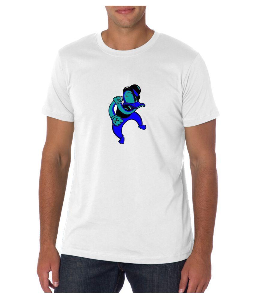 BD Fashion White Round T-Shirt Pack of 1