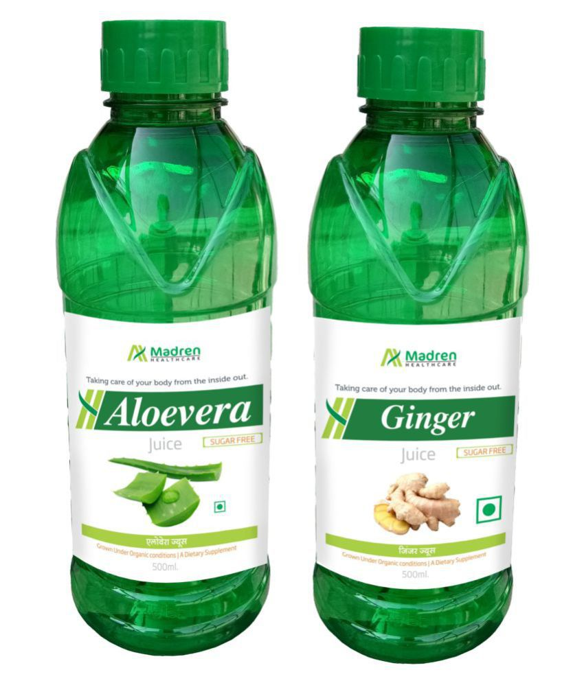 Madren Healthcare Aloevera & Ginger Juice Health Drink Liquid 500 ml un flavoured
