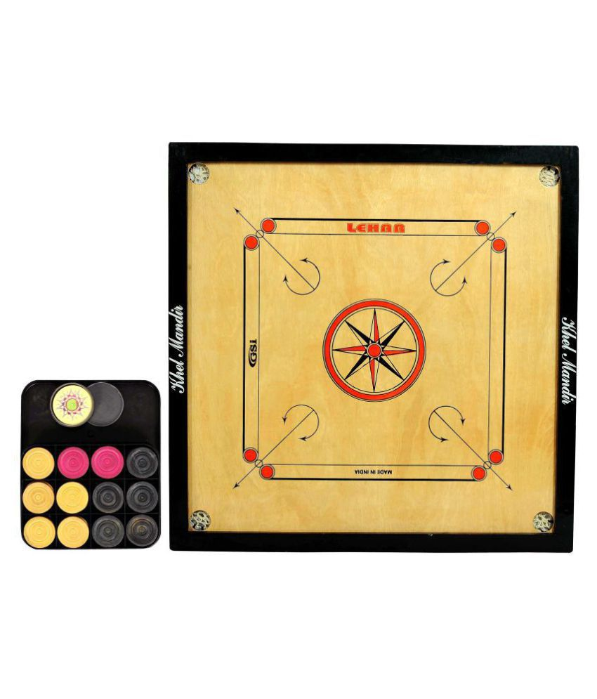 GSI Wooden Carrom Board Large Size