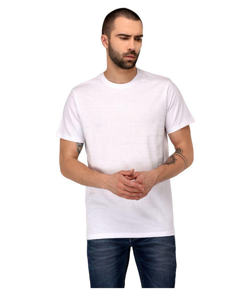 Jaaffi White Round T-Shirt Pack of 1