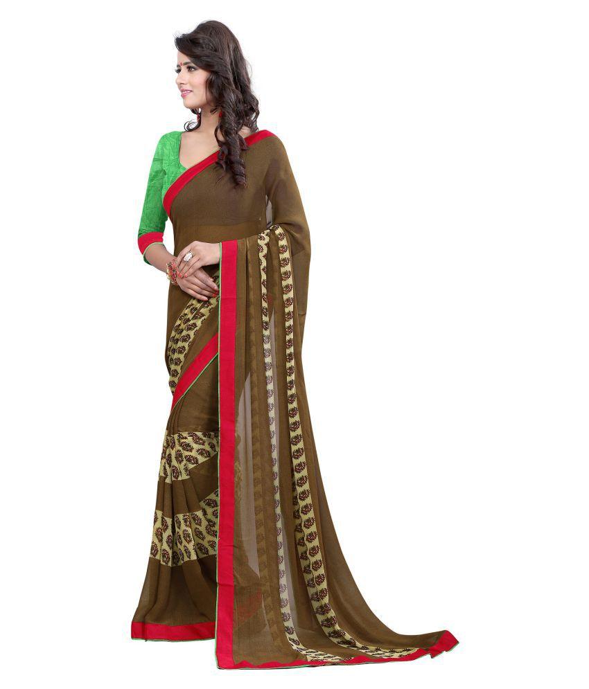Kalapy Fashion Multicoloured Georgette Saree