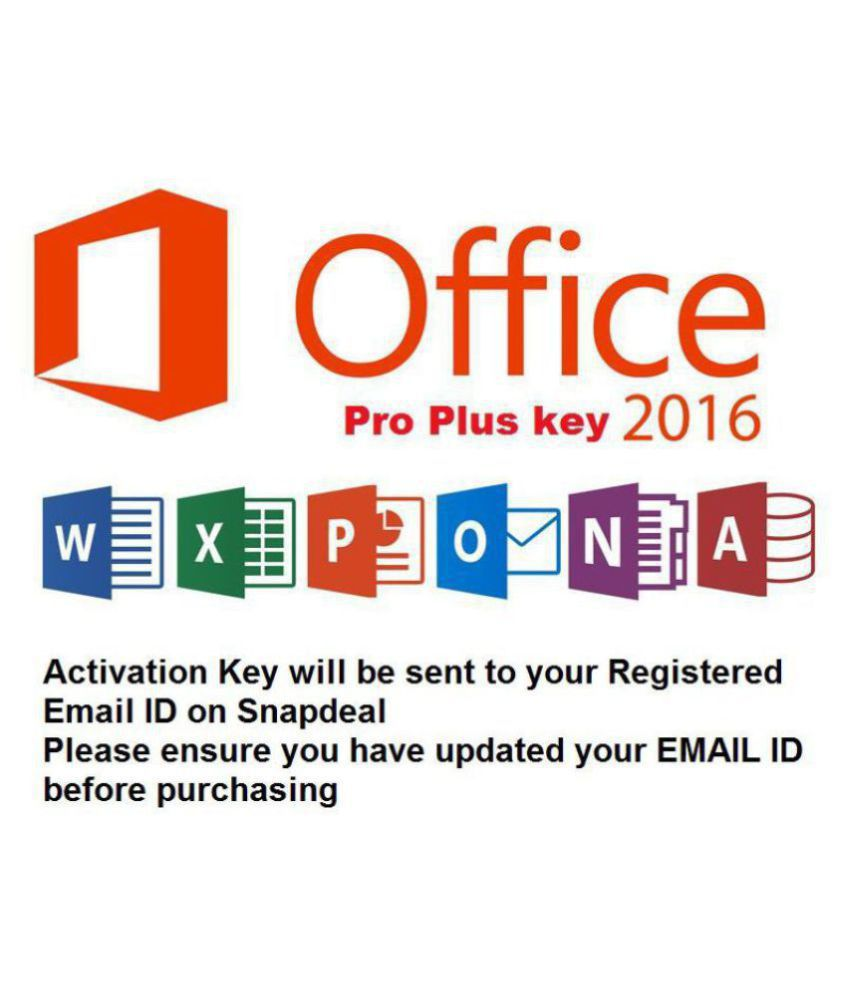 Microsoft Office 2016 Professional Plus ( 32/64 Bit ) - Email Delivery