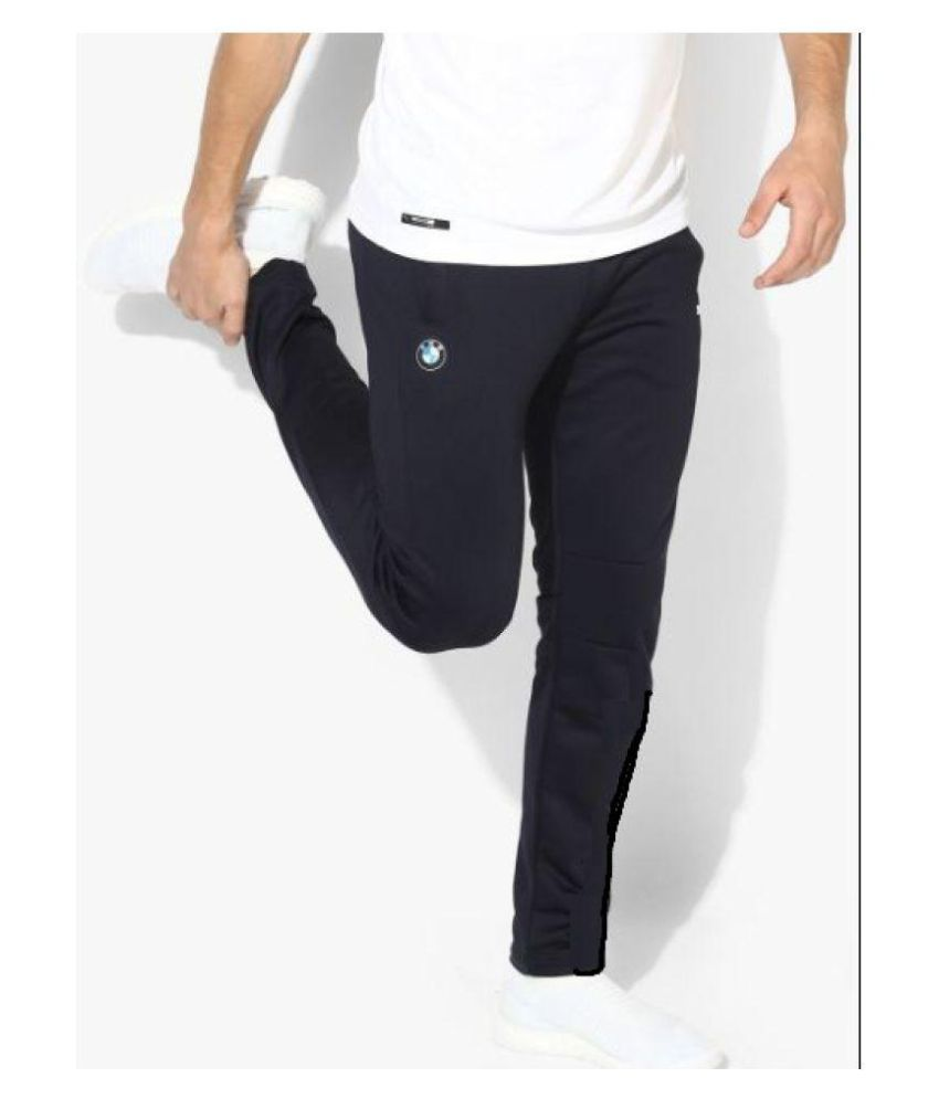 1ee9b32a217 Puma BMW Navy Blue Black Track Pant  Buy Online at Best Price on Snapdeal