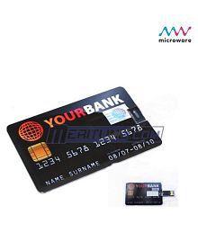 Microware Credit Card 16GB USB 2.0 Fancy Pendrive Pack of 1