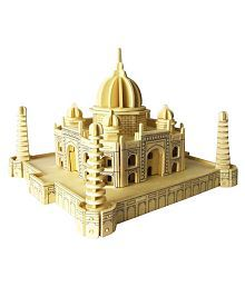 UNTOLD™ IMPORTED DIY 3D MODELING WOODEN ANIMAL CONSTRUCTION KIT PUZZLE ASSEMBLING BUILDING BLOCKS LEARNING AND EDUCATIONAL TOY GIFT(Taj mahal; Size: Big)