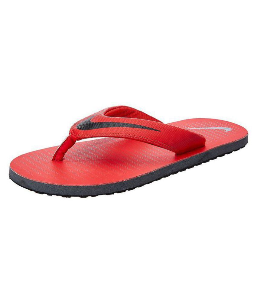 cfe88b8fa32 Nike Red Thong Flip Flop Price in India- Buy Nike Red Thong Flip Flop  Online at Snapdeal