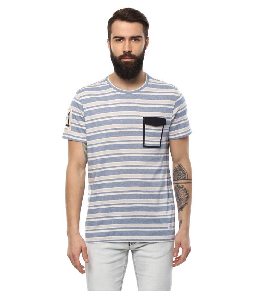 AXMANN Blue Round T-Shirt