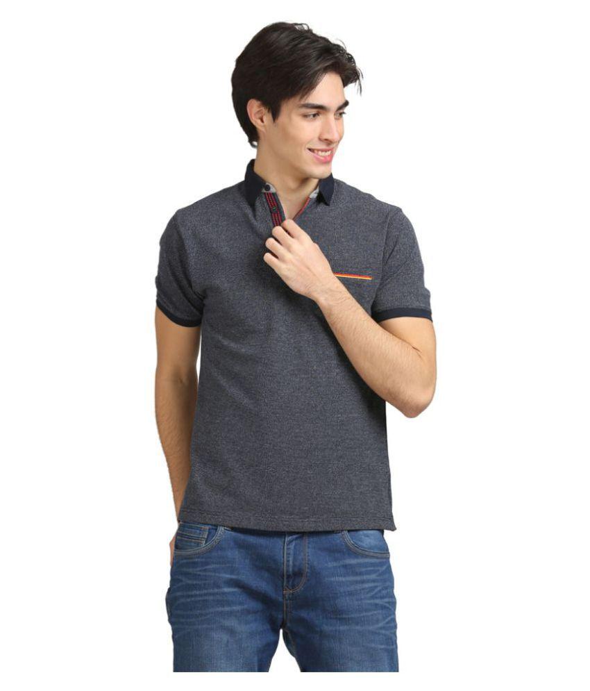 AXMANN Navy High Neck T-Shirt