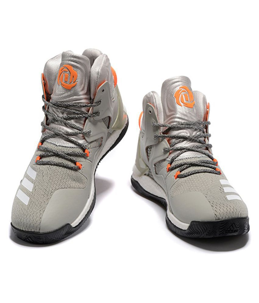 57cebf3873f Adidas D ROSE 7 PRIMEKNIT Gray Basketball Shoes - Buy Adidas D ROSE ...