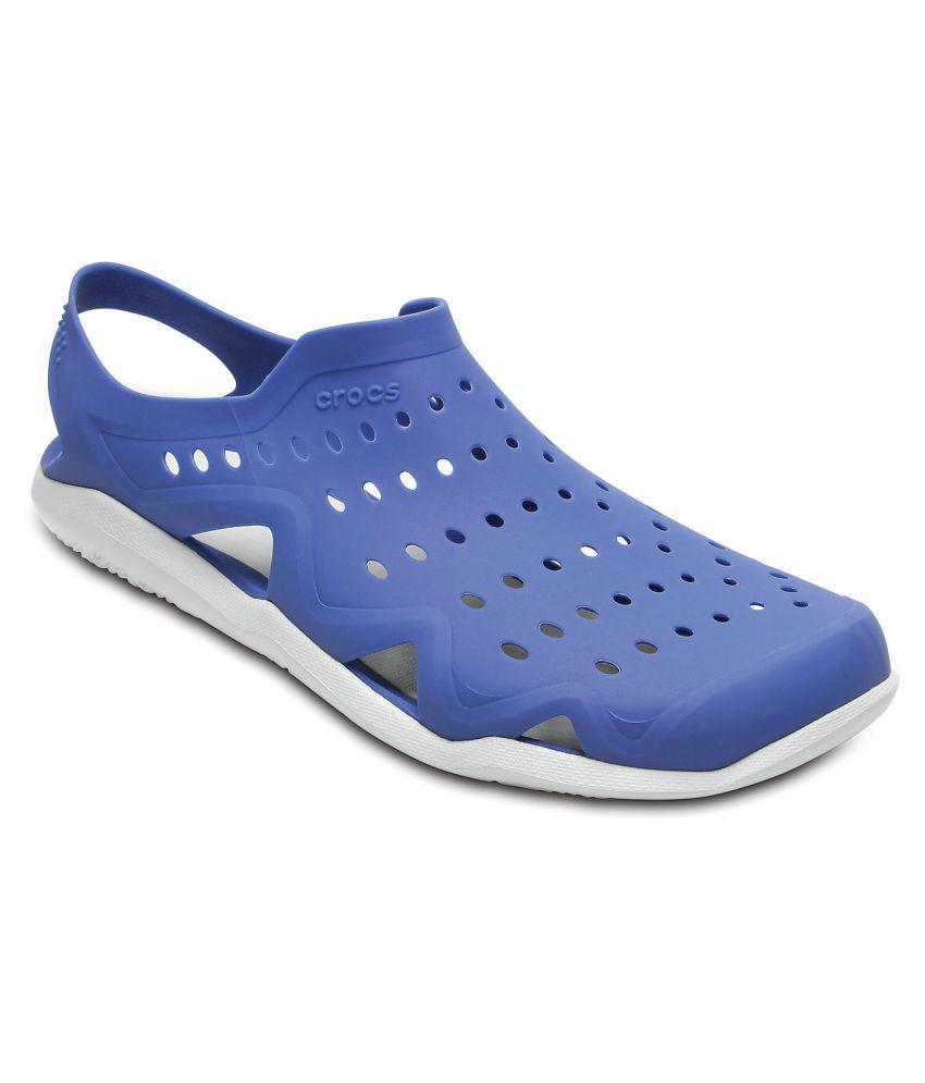 sprzedaż online super tanie oficjalny sklep Crocs Swiftwater Wave M Lifestyle Blue Casual Shoes - Buy ...