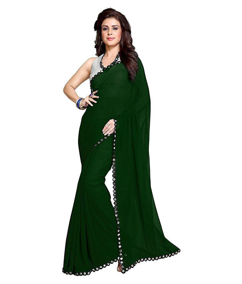 Nena Fashion Green Georgette Saree