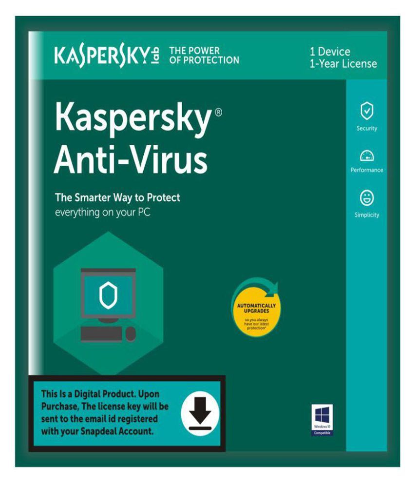 Kaspersky Antivirus 2018 ( 1 PC / 1 Year ) - Activation Code-Email Delivery - Buy Kaspersky ...