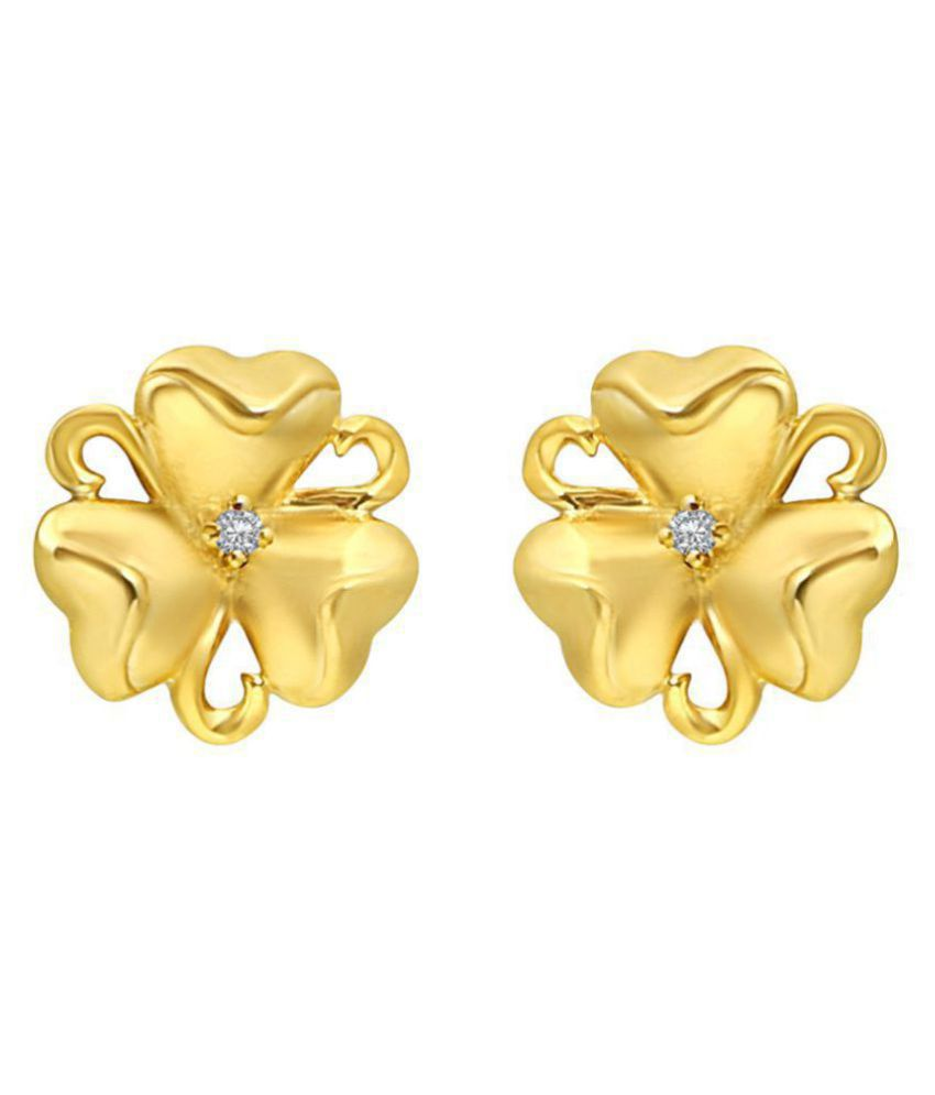 MFJ Fashion Jewellery Daily Wear Fancy Collection CZ Gold Plated Earrings for Girls and Women