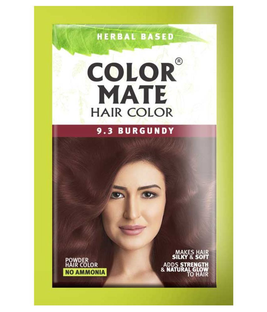 COLOR MATE HAIR COLOR Burgundy Semi Permanent Hair Color Burgundy Burgundy 15 gm Pack of 5