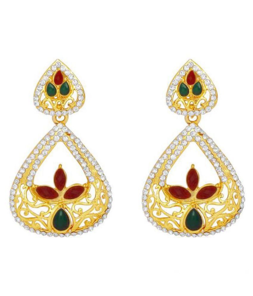 MFJ Fashion Jewellery Drop Gold Plated Stylish Earring For Girls and Women