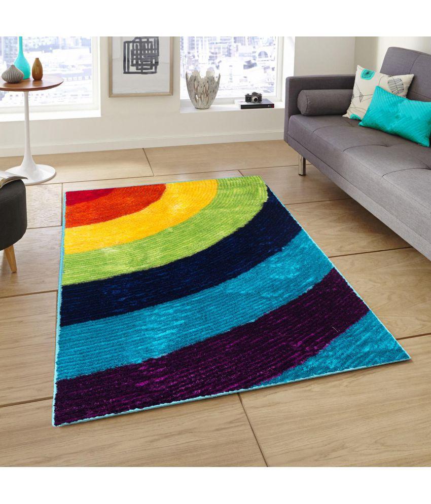 Story@Home Multi Polyester Carpet Stripes 3x5 Ft.
