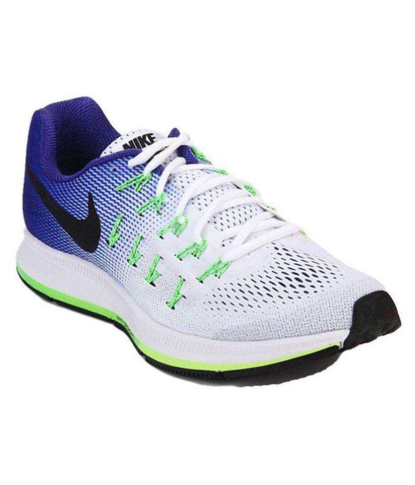 super popular a2e4f 6f6e4 Nike Zoom Pegasus 33 White Running Shoes