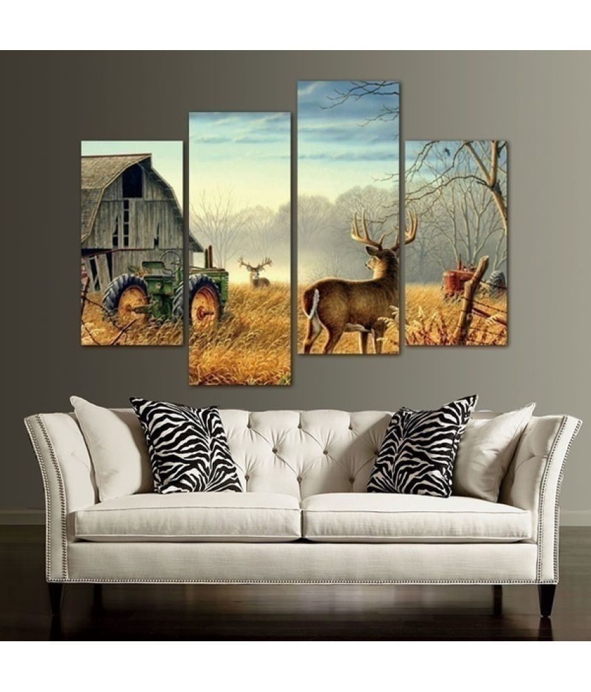 Deer Hut Canvas Painting without Frame AHDCP-44