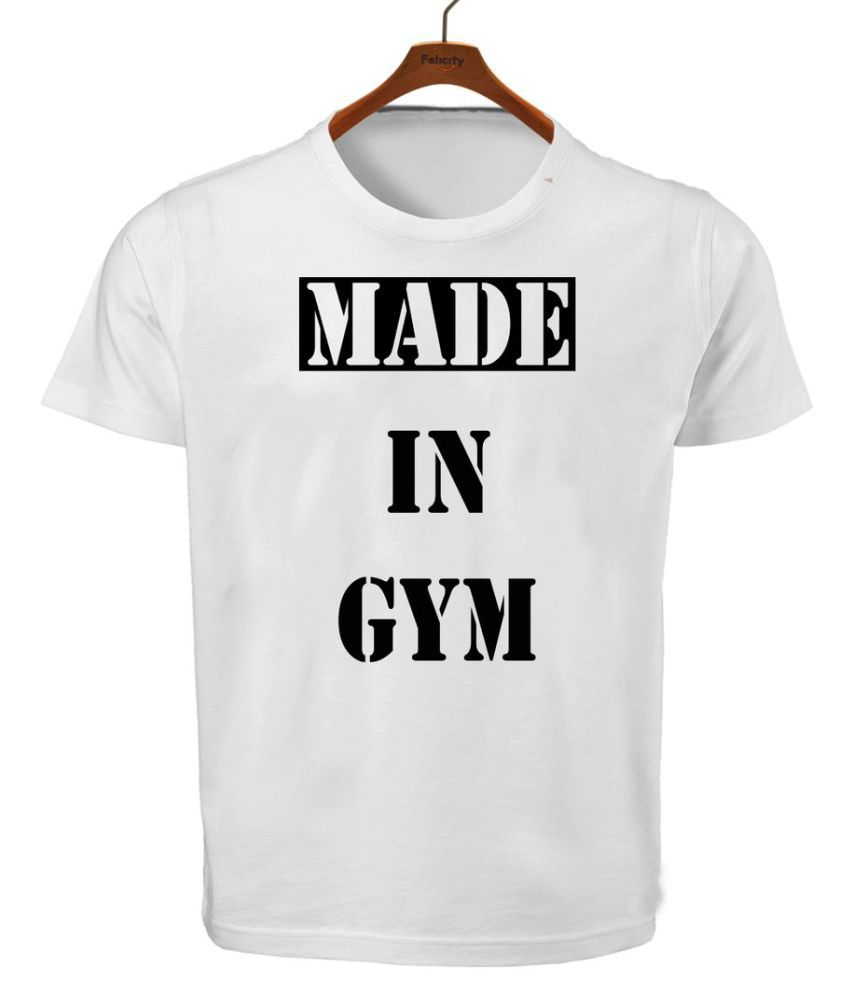 RITZEES White Dry Fit Polyester Tshirt On Made In Gym