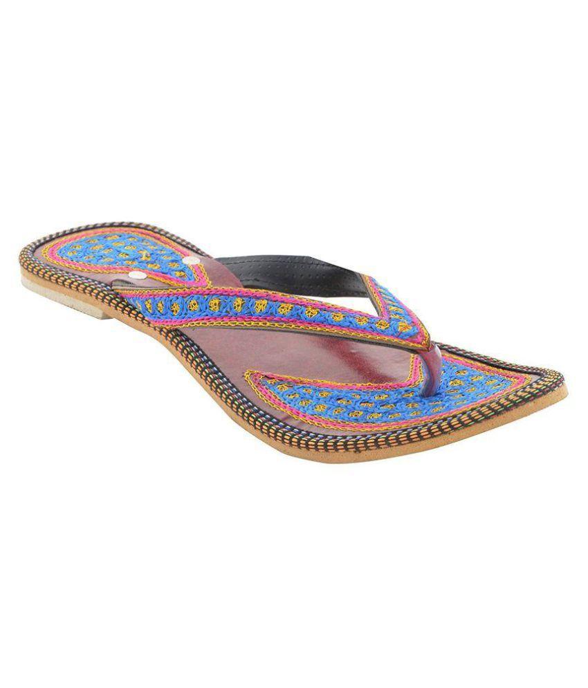 Risingone Blue Ethnic Footwear