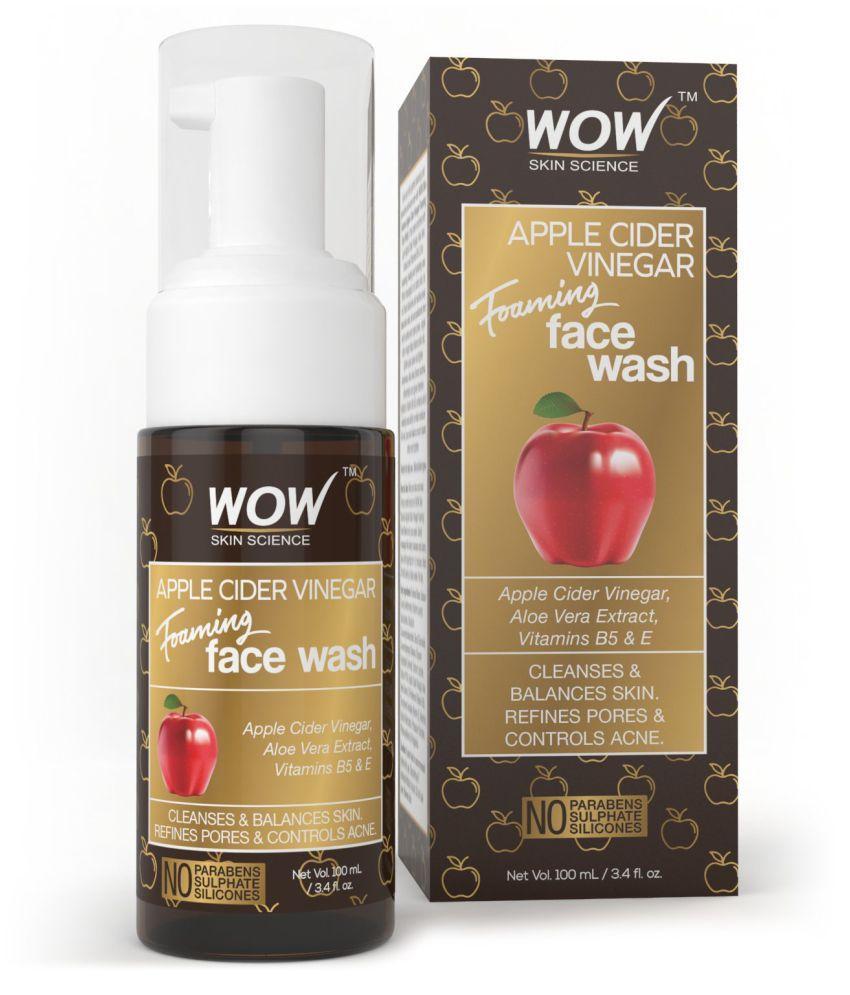 WOW Skin Science Apple Cider Vinegar Foaming Face Wash Face Wash 100 ml