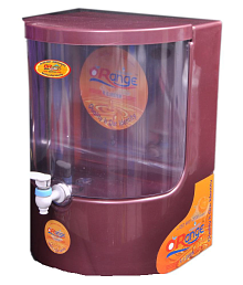 Orange Dolphin Maroon RO System 10 Ltr RO Water Purifier