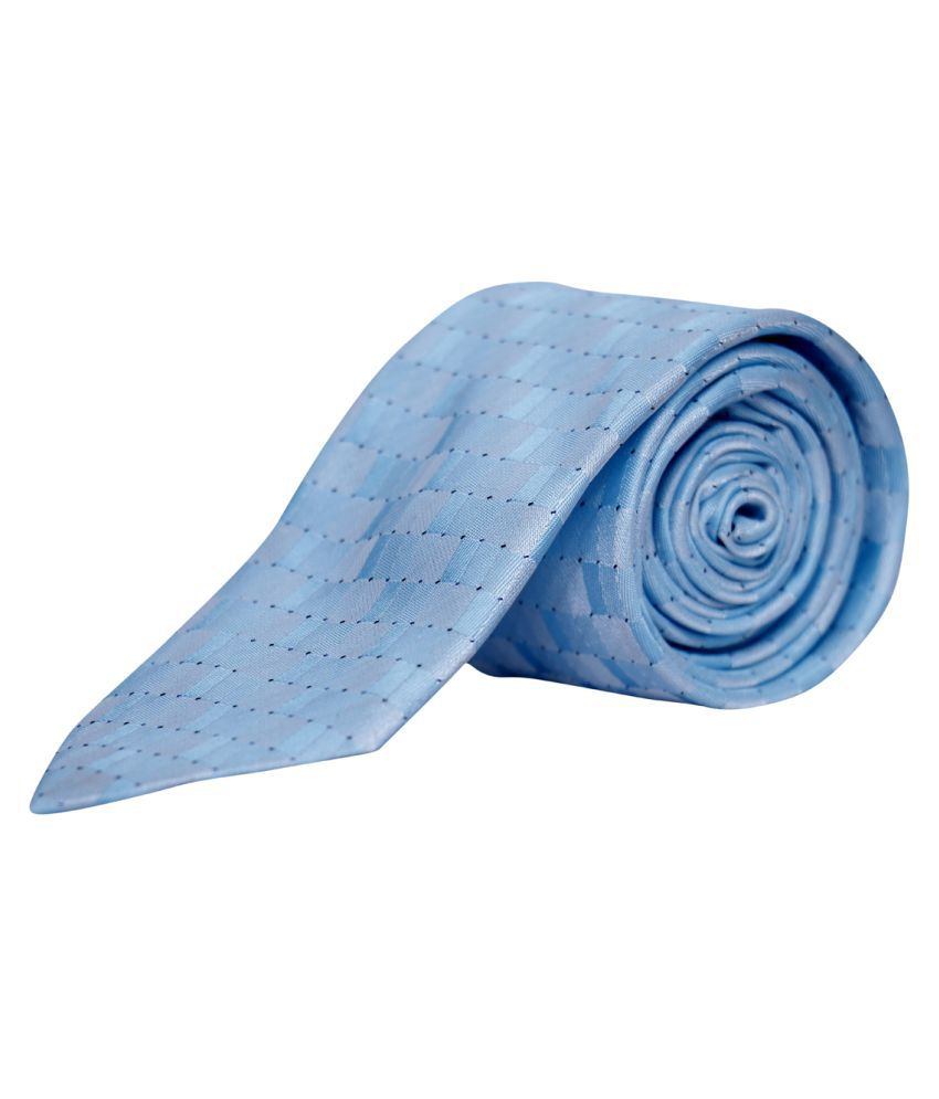 Molessi Blue Printed Polyester Necktie